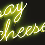 cheese picture neon sign