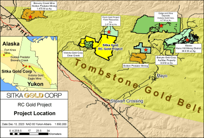 Sitka Secures Drill Contractor for up to 10,000 Metres of Drilling at RC Gold in Yukon